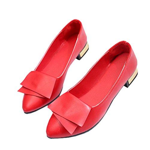 Bureau Talon Pointues Chaussures Bas Chaussures Femmes Bouche Des Rouge lhwy Les De Poissons vqqPnxZIpw