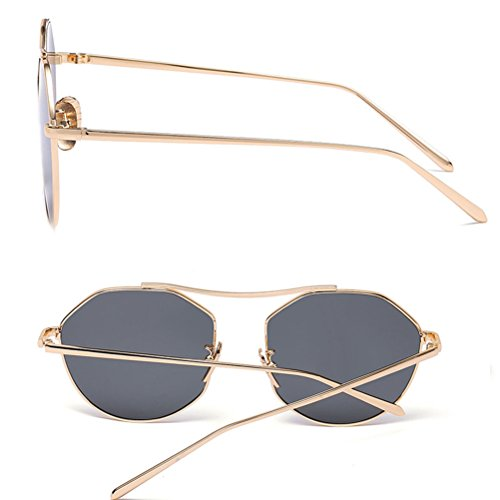 7a2dcaa147a19 Retro Pour Gold Glasses Et Youth Homme Color Sunglasses Butterfly Metal  Femme amp gray Film Lunettes ...