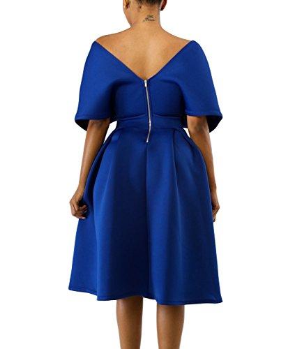 04a3f9571a Home Brands Lalagen Dresses Lalagen Women s Vintage 1950s Cocktail Party  Dress Flare Swing Midi Dress Blue L.   