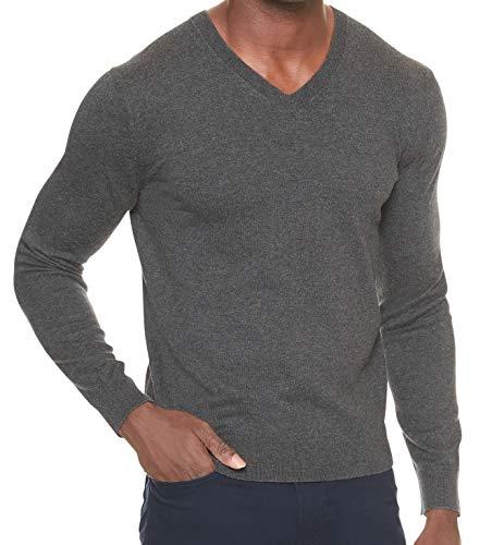 Sweater Men Banana Republic (Banana Republic Men's Premium V-Neck Sweater (Gray, XL))