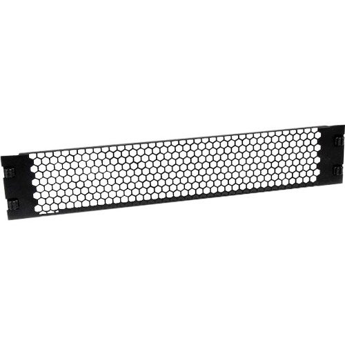 Vented 2 Space Rack Panel (StarTech.com Blanking Panel – 2U – Vented – 19in – Tool-less – Steel – Black  – TAA Compliant – Blank Rack Panel – Filler Panel)