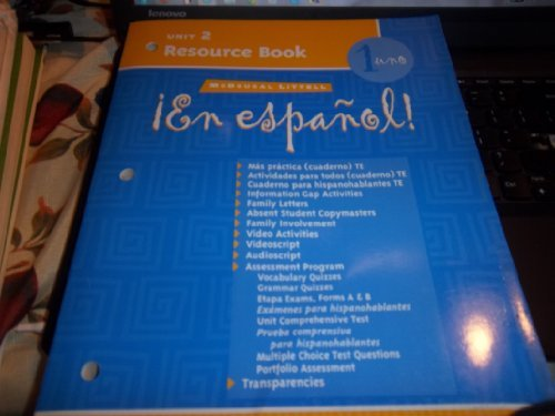 McDougal Littell ¡En Español!: Unit Resource Book Unit 2 Level 1 (Spanish Edition)