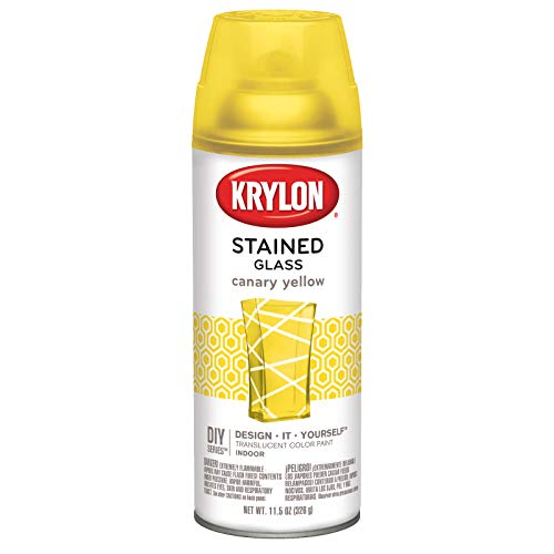 - Krylon K09035000 Stained Glass Aerosol Paint, 11.5 oz, Canary Yellow, 6 1