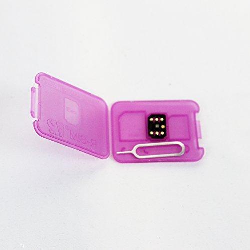 WADJET 5pack RSIM 12 Newest 2018 R-SIM Nano Unlock Card, R-SIM 12 Smart 4G Card Unlock Card Adapter Converter Kits with Tools For IPhoneX 8P 8 7P 7 6SP 6P 6S 6 5C 5S 5 by WADJET (Image #1)