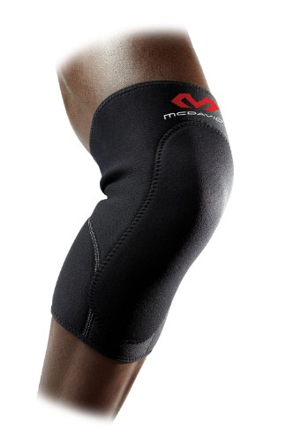 McDavid Deluxe Knee Supp (Black/Scarlet, Medium)