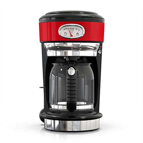 (Russell Hobbs CM3100RDR Retro Style Coffeemaker 8-Cup Red)