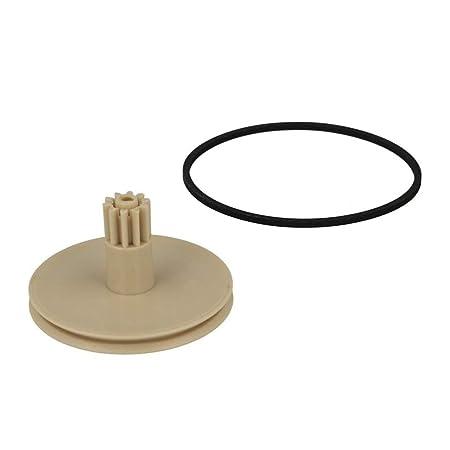 Anjuley - Bandeja giratoria de plástico para cinturón de Goma para ...