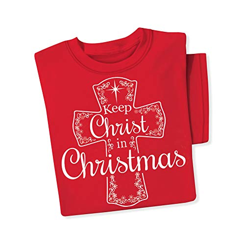 Keep Christ in Christmas Tee Shirt, Red, Xx-Large