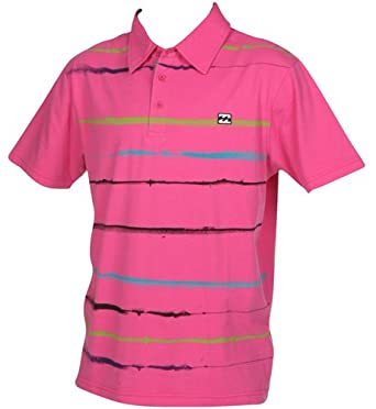 BILLABONG Live-Wire Polo para Hombre, Color Azul y Rosa Electric ...