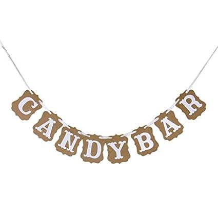 Amazon Shopline Candy Bar Bunting Banner Sign For Diy Wedding