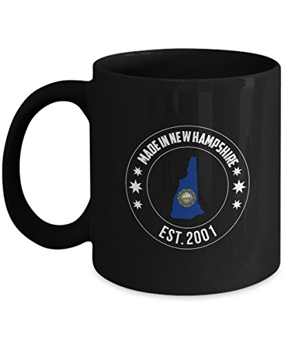 Years Anniversary Funny Countries Gifts Ideas Made New Hampshire Est 2001 11oz Mug