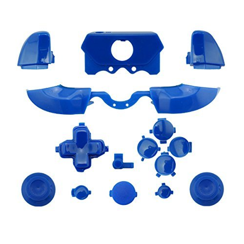 Matte ABXY Dpad Triggers Full Buttons Set Mod Kits for XBox One Elite Controller (Blue) (Blue Buttons Xbox)
