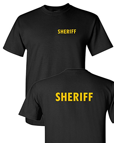 Tee Plaza - Official Guard Event Uniform Yellow logo t-shirt SHERIFF -L
