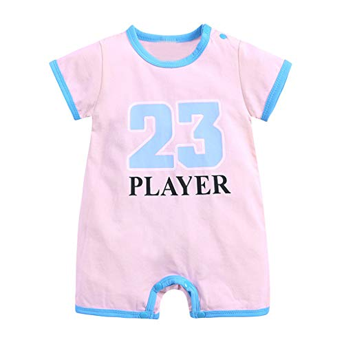 LNGRY Toddler Kids Exercise Bodysuit,Onesie for Baby Boys 23 Romper Bodysuit Outfits Pink -