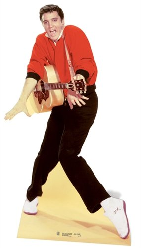 Elvis Presley Cardboard Cutout Life Size Standup Red Jacket w Guitar (Elvis Stand Up)