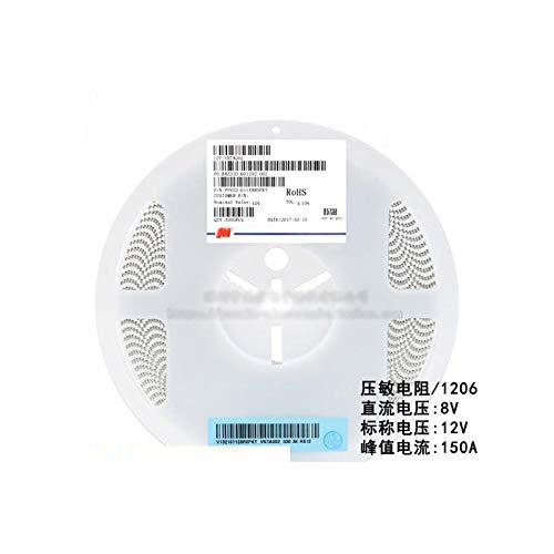 MAO YEYE 100pcs/lot SMD 1206 Voltage Dependent Resistor VDR DC 8V Nominal Voltage 12V FPV321611E8R0PKT Varistor Resistor