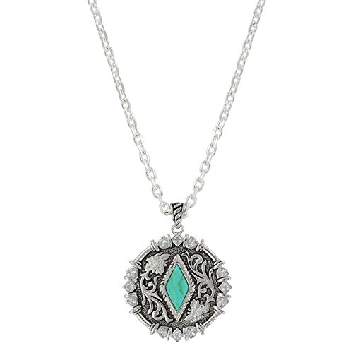 - Montana Silversmiths Filigree Concho with Turquoise Necklace - NC3866