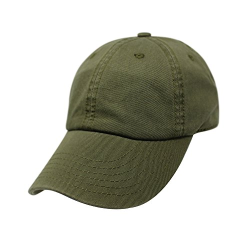 ChoKoLids Cotton Dad Hat Adjustable Blank Cap Low Profile Unstructured Polo Style (Army Green) ()