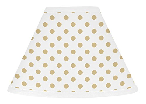 - Sweet Jojo Designs Gold and White Polka Dot Lamp Shade for Watercolor Floral Collection