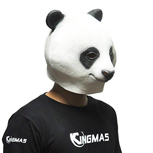 KINGMAS Halloween Panda Head Mask - Party Animal Latex Mask Toy Prop