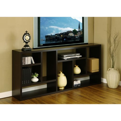 Multi-Purpose 3-in-1 Display Cabinet/ TV Stand/ bookcase. Clean up your home and save space with black satin finished wood veneer three-in-one display cabinet, TV stand, and bookcase (Tv Bookcase Lcd)
