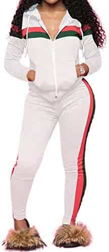 301272f2b18 Fantasy Closet Women s 2 Pieces Outfits Top and Long Pants Sweatsuits Set  Bodycon Tracksuits