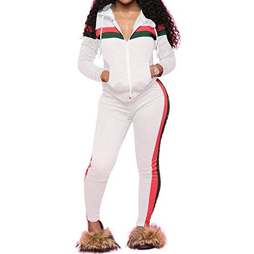 Zipper up Sweatsuits Outfits Hoodie Sweatshirt and Jogging Sweatpants Suit IIF Womens 2 PCS Plus Size Tracksuit Sets