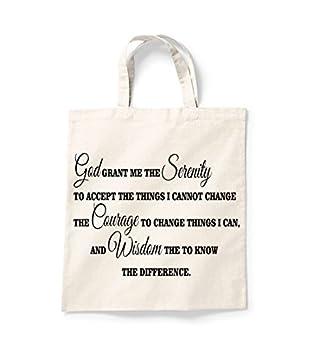 Amazon.com: Dios Me Dio la serenidad bolsa de la compra ...