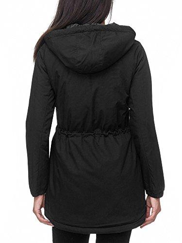 Manteau Sublevel Noir Sublevel Uni Noir Manteau Uni Femme Femme Sublevel qtExrOE