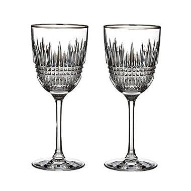 Waterford Lismore Diamond Platinum Goblet Glass (Set of 2)
