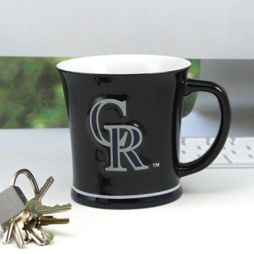 MLB Colorado Rockies 15oz. Sculpted Mug - Black