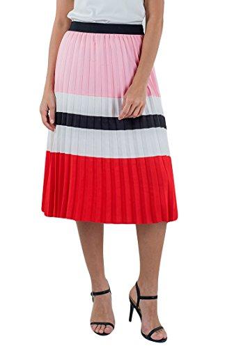 Plains and Prints Women's Johnson Pleated Skirt Medium - Multi Pleated Skirt