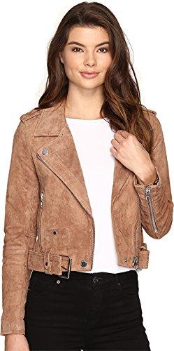 [BLANKNYC] Women's Real Suede Moto Jacket, Coffee Bean, Small
