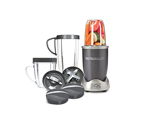 NutriBullet 12-Piece High-Speed Blender/Mixer System, Gray (Black Cup Only Flat)