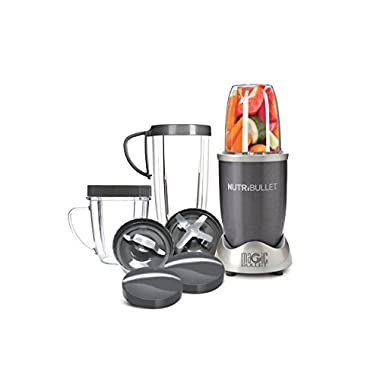 NutriBullet 12-Piece High-Speed Blender/Mixer System, Gray