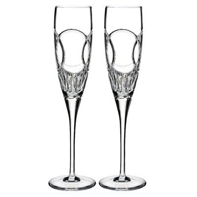Waterford Love Wedding Vows Champagne Flute Pair by Waterford