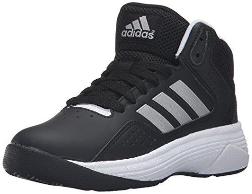 adidas neo garçons ilation cloudfoam mi - large matte k patiner chaussure, noir / matte large Argent  / Blanc , 12 p - nous petit 7ee27a