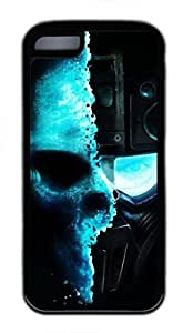 linJUN FENGGhost Recon SF Custom Personalized Design DIY Back Case for iphone 5/5s TPU Black
