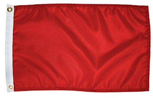 Nylon Blank Red - Search 'N Rescue Unisex Blank Flag 12x18 Blank Flag, Red, 12