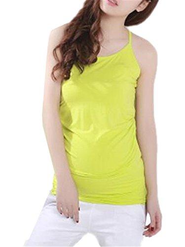 T Gravidanza Pregnancy Estivi Yellow Premaman Light Senza Elegante shirt Tops Maglietta Gogofuture Maniche Canotta Maternity Donne Casual Camicetta Eqyfft8