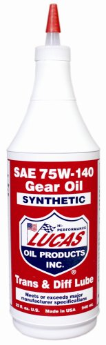 Lucas Oil 10121-12 75W140 Synthetic Transmission and Diff Lube - 1 Quart - Case of 12 Transmission Diff Gear