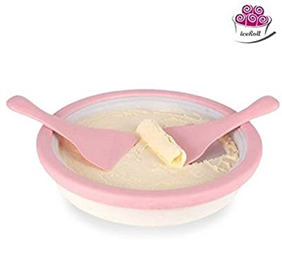 iceRoll Iron Plate Icream Maker Lolly Ice Pan + Tongs