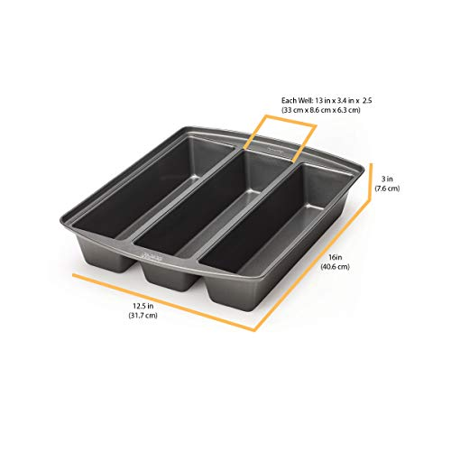 Chicago Metallic 26783 Professional Lasagna Trio Pan, 12.5 in by 3 in by 2.5 in, Silver by Chicago Metallic (Image #4)