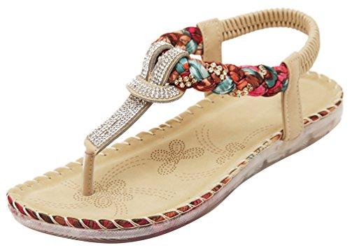 CFP - Zapatos con correa de tobillo mujer Beige