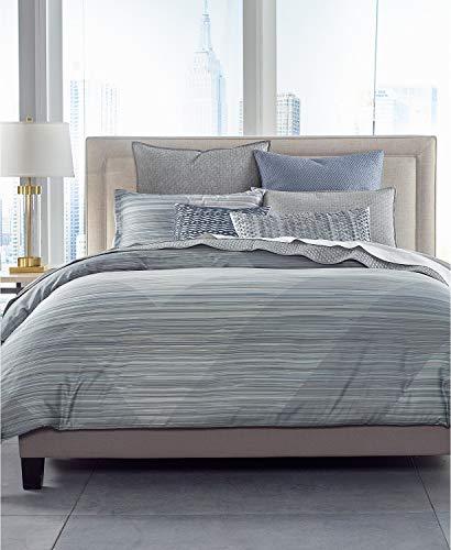 Hotel Collection Diamond Stripe Full Queen Super Soft Pima Cotton Comforter ()