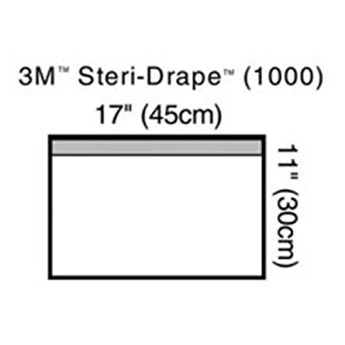 WP000-3M-1000 3M-1000 Drape Utility Steri-Drape Towel 17x11'' Small Sterile Clear 10/Bx From 3M # 1000