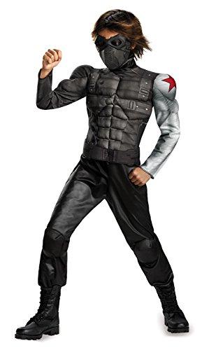 Bucky - James Buchanan Barnes Winter Soldier Muscle Child Costume - Small 4-6 (Winter Soldier Muscle Costume)