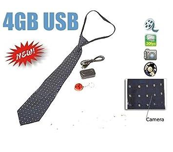 Corbata espía con cámara espía oculta DVR: Amazon.es: Electrónica