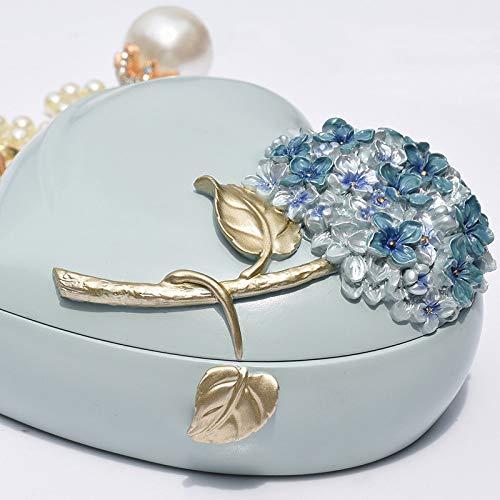 LVV Home Resin Love Hydrangea Jewelry Box/Creative Pastoral Style Ring Storage Box Decoration Birthday Gift by Hotin (Image #5)