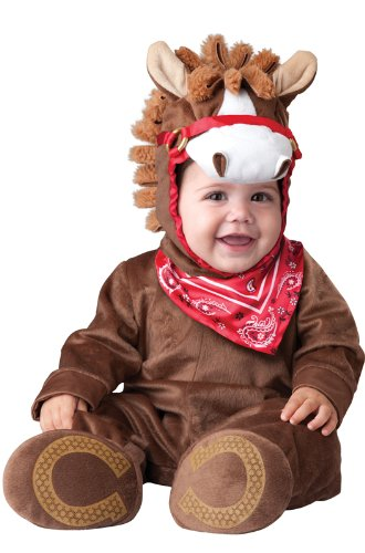 InCharacter Baby Boy's Playful Pony Costume, Brown, Small (6-12months) -